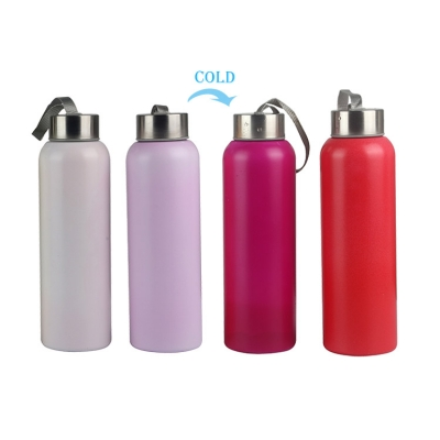 Customized cold color changing Stainless steel water bottle