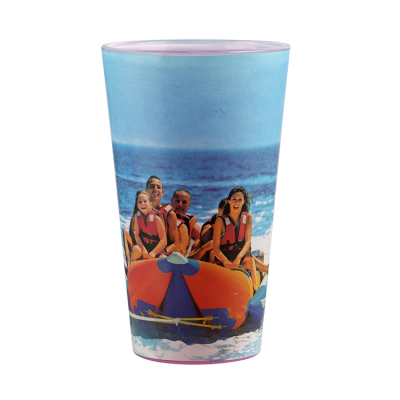 Customized 16OZ creative cold color changing  glass cup