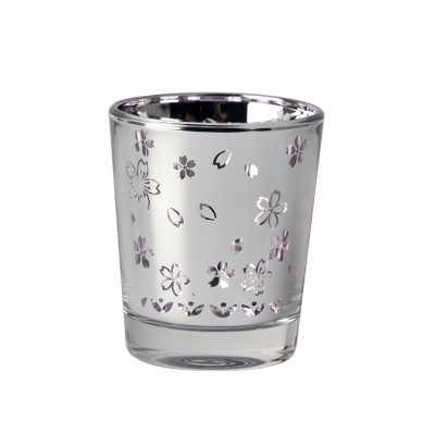 High end customized fashionable simple glass cup