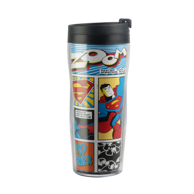 Professional customization gift double-deck plastic travel cups
