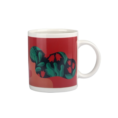 Funny heat temperature sensitive color changing coffee mug