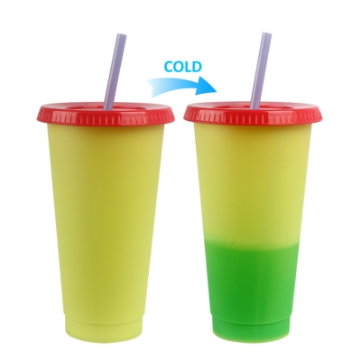 Starbucks 710ML Cold Color Change Plastic PP Cup