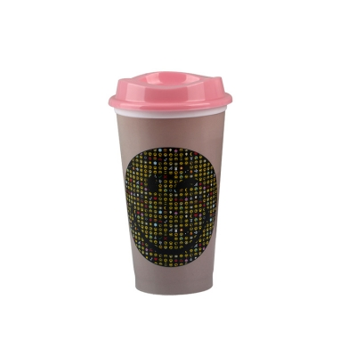 Customized funny cold color changing plastic cup